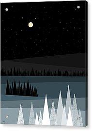 A Star Studded Sky Acrylic Print by Val Arie