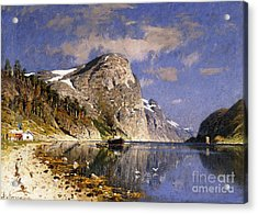 A Steamer In The Sognefjord Acrylic Print by Adelsteen Normann