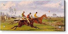 A Steeplechase  Acrylic Print by Thomas Henry Alken