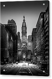 A Step Above B/w Acrylic Print by Marvin Spates