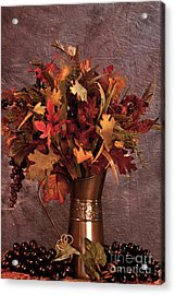 A Still Life For Autumn Acrylic Print by Sherry Hallemeier