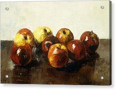 A Still Life Of Apples Acrylic Print