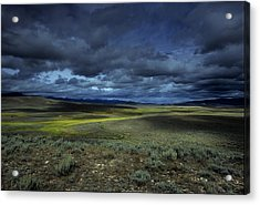 A Storm Builds Up Over A Colorado Acrylic Print by David Edwards