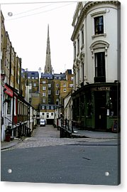A Street In London Acrylic Print by Mindy Newman