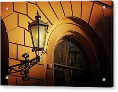 Acrylic Print featuring the photograph A Street Lamp In Lisbon Portugal  by Carol Japp