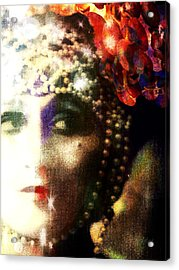 Acrylic Print featuring the digital art A String Of Pearls by Delight Worthyn