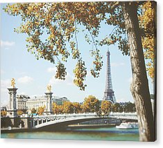 Acrylic Print featuring the photograph A Stroll Along The River Seine In Paris by Ivy Ho
