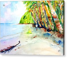 A Stroll On Batibou Beach Dominica Acrylic Print by Carlin Blahnik
