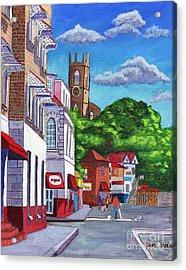 A Stroll On Melville Street Acrylic Print