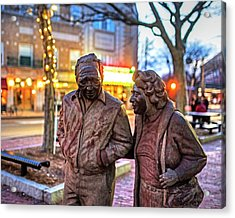 A Stroll Through Davis Square Somerville Ma Acrylic Print