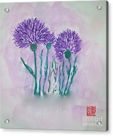 A Study In Purple Acrylic Print