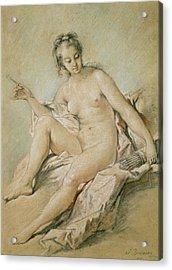 A Study Of Venus Acrylic Print by Francois Boucher
