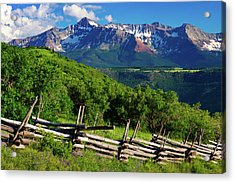 Acrylic Print featuring the photograph A Summer In Telluride by John De Bord