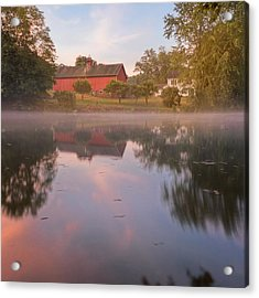A Summer Morning Square Acrylic Print by Bill Wakeley
