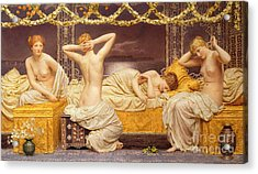 A Summer Night Acrylic Print by Albert Joseph Moore