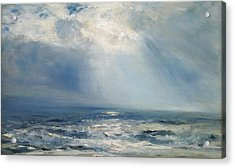 A Sunbeam Over The Sea Acrylic Print by Henry Moore