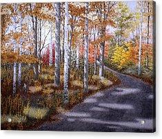 A Sunny Autumn Day Acrylic Print by Conrad Mieschke