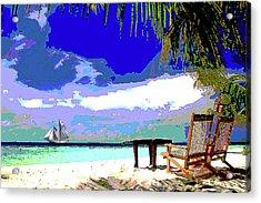 A Sunny Day At The Beach Acrylic Print