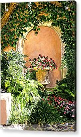 A Sunny Nook Hotel Bel - Air Acrylic Print by David Lloyd Glover