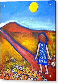 Acrylic Print featuring the painting A Sunny Path by Winsome Gunning