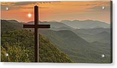 A Sunrise View From Pretty Place Greenville Sc Acrylic Print by Willie Harper