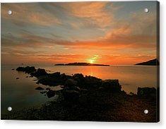 A Sunset In Ibiza Acrylic Print