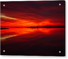 A Sunset Kiss -debbie-may Acrylic Print by Debbie May
