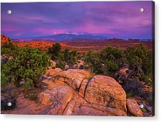 A Sunset Over Arches Acrylic Print