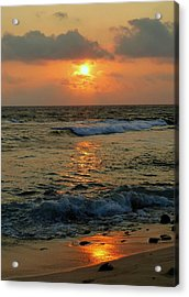 Acrylic Print featuring the photograph A Sunset To Remember by Lori Seaman