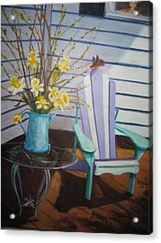 A Surpise Visitor Acrylic Print by Gloria Condon