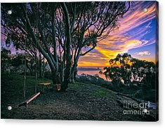A Swinging Sunset From The Secret Swings Of La Jolla Acrylic Print
