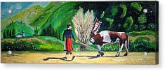 Acrylic Print featuring the painting  Swiss Girl by Patricia Arroyo