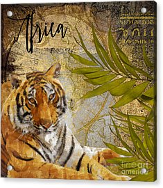 A Taste Of Africa Tiger Acrylic Print by Mindy Sommers