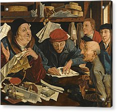 A Tax Gatherer With His Clerks Acrylic Print