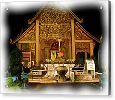 A Temple Night 1 Acrylic Print