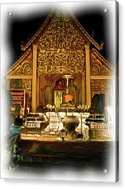 A Temple Night 2 Acrylic Print