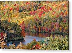 A Tennessee Autumn Acrylic Print by Debbie Karnes
