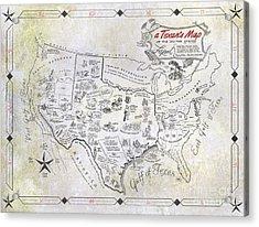 A Texan's Map Acrylic Print