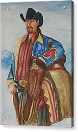 A Texas Horseman Acrylic Print by George Chacon