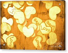 A Texture Of Vintage Love Acrylic Print by Jorgo Photography - Wall Art Gallery