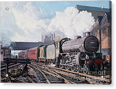 A 'thompson' B1 Class Moving Empty Stock On A Cold February Morning Acrylic Print by David Nolan