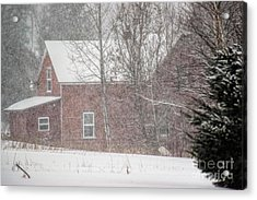 A Thousand Snowstorms Acrylic Print by William Tasker