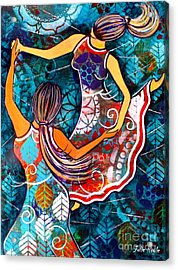 Acrylic Print featuring the painting A Time To Dance by Julie Hoyle