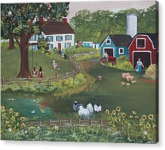 Acrylic Print featuring the painting A Time To Play by Virginia Coyle