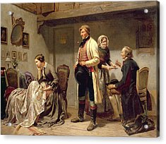 A Toast To The Engaged Couple Acrylic Print by Carl Wilhelm Huebner