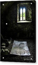 Acrylic Print featuring the photograph A Tombstone In Sligo Abbey by RicardMN Photography