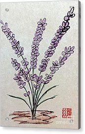 A Touch Of Lavender Acrylic Print