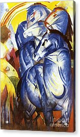 A Tower Of Blue Horses Acrylic Print by Franz Marc