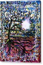 A Tree In The Country For Shitao Acrylic Print by Tom Hefko