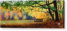 A Tree Swing Acrylic Print by Sergey Zhiboedov